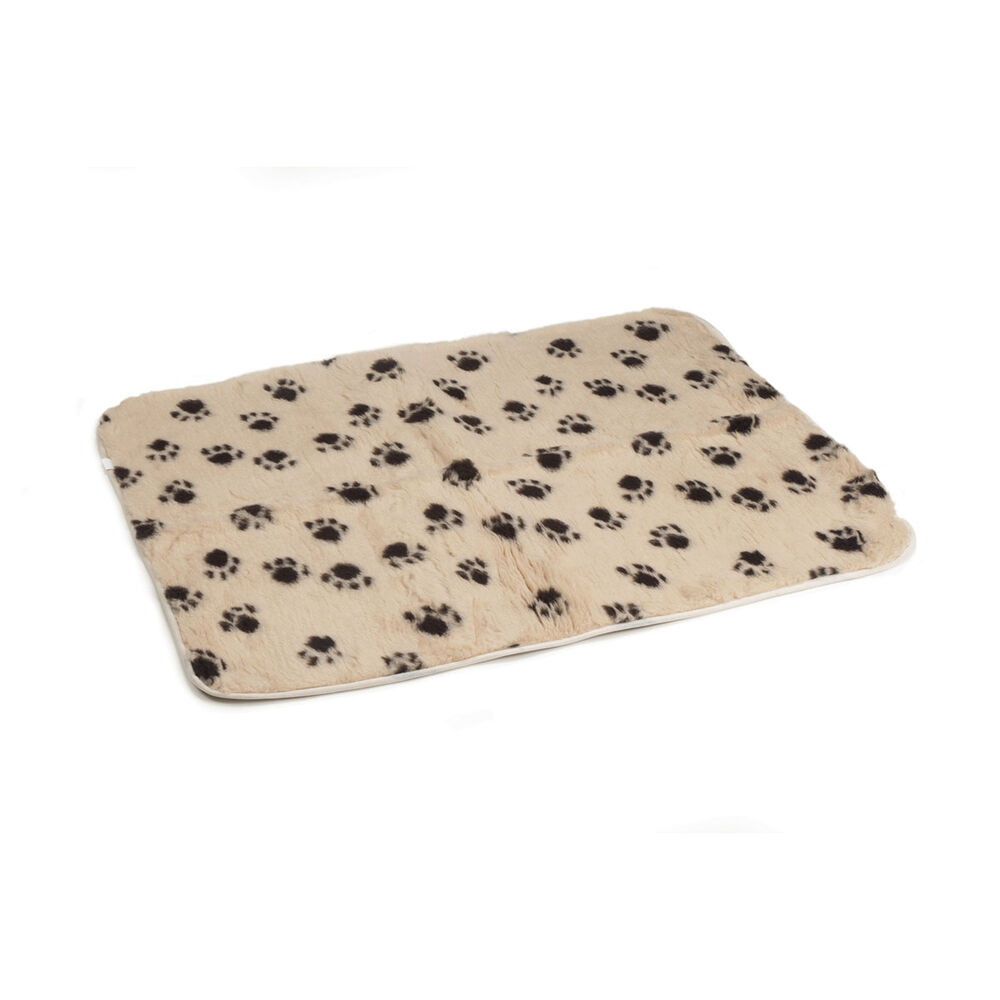 Beeztees Drybed with hemmed border and paw print