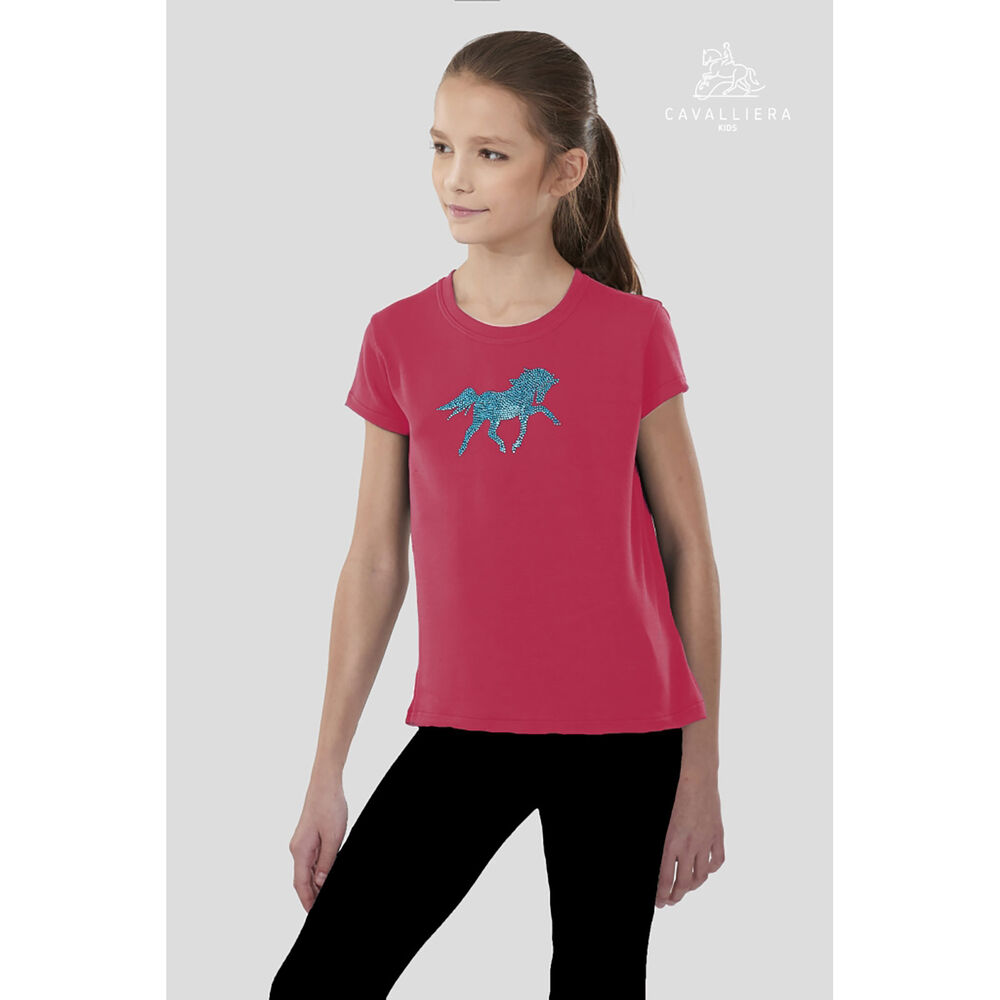 Cavalliera Kids PLAYFUL PONY Short Sleeve Loose Fit Top