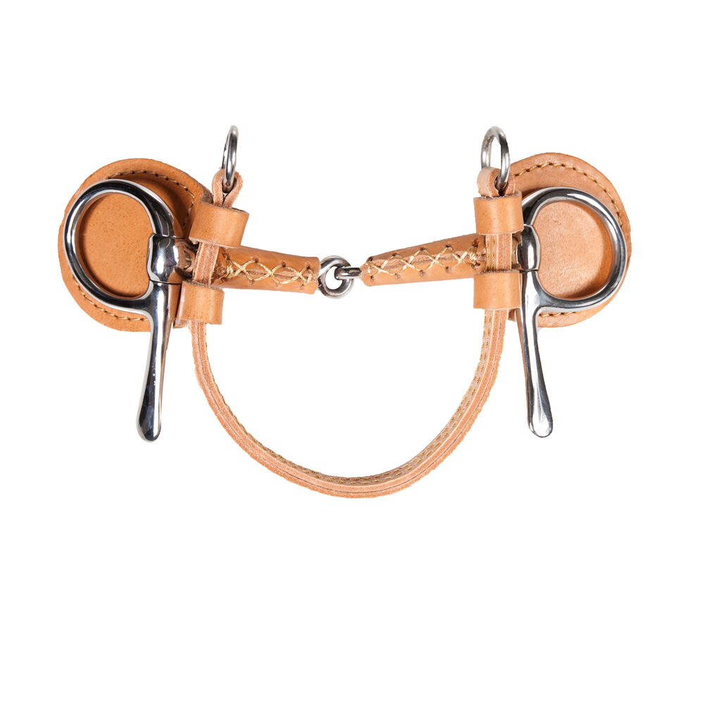 Finntack Frisco June Snaffle Leather Covered Driving Bit