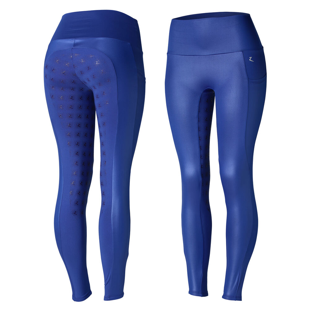 Horze Sidney Women's Silicone Full Seat Shiny Riding Tights