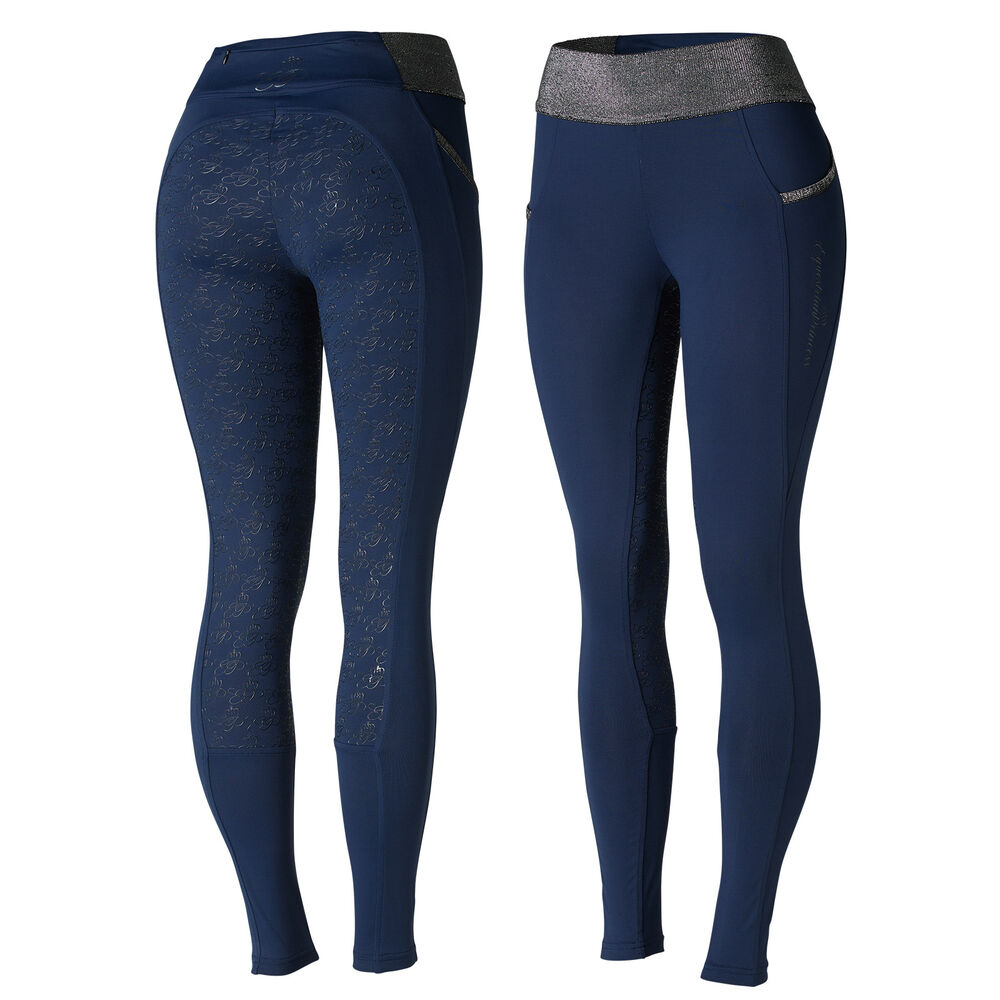 Horze Women's Full Seat Riding tights with Glitter Waist