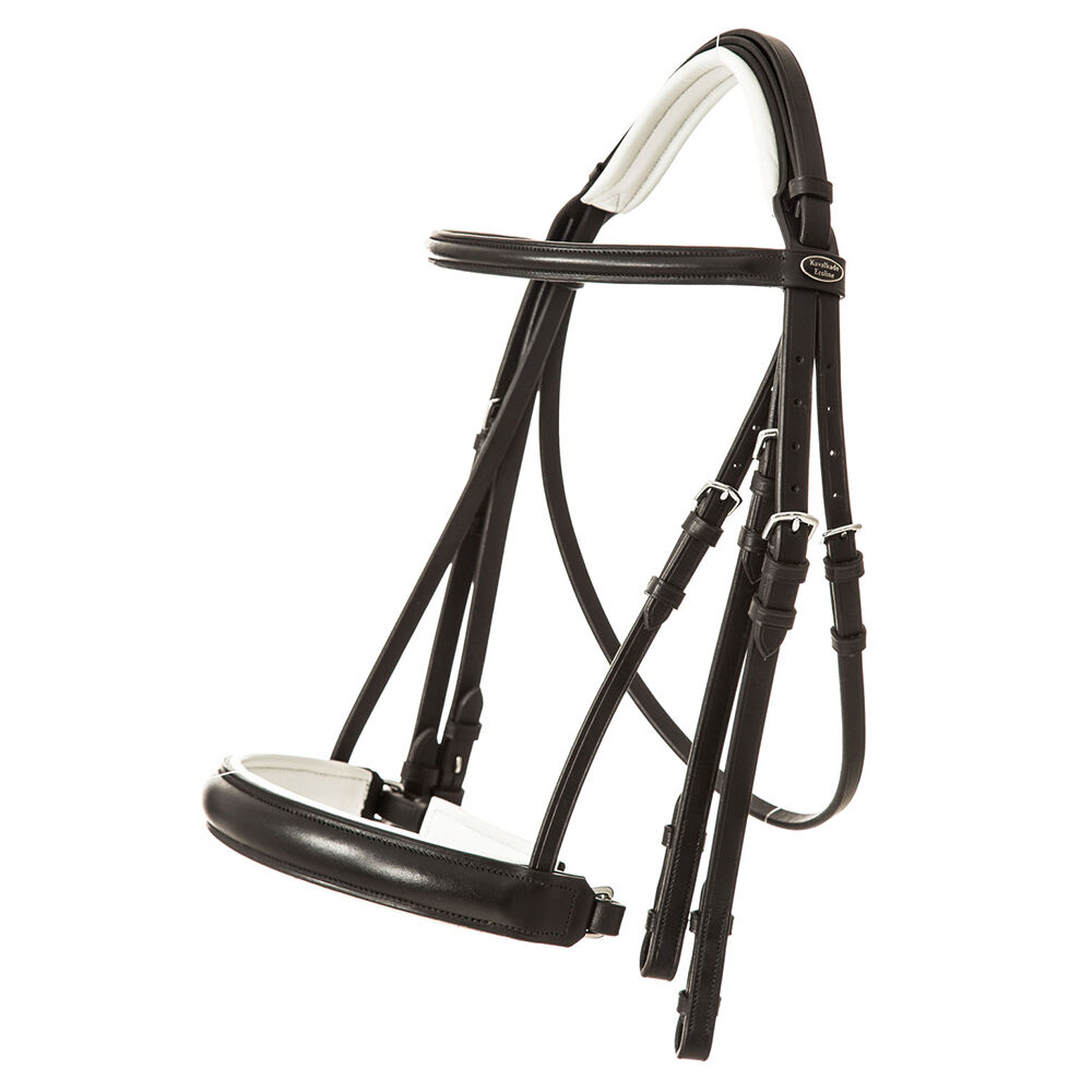 Kavalkade Weymouth Bridle Dacira crank noseband and flash