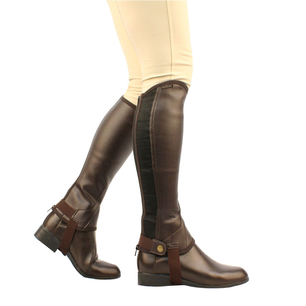 Saxon Equileather Half Chaps, Adult