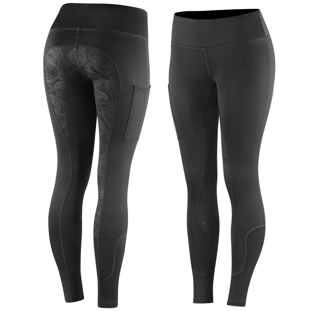 Horze Women's Warm Pull-On Silicone FS Tights
