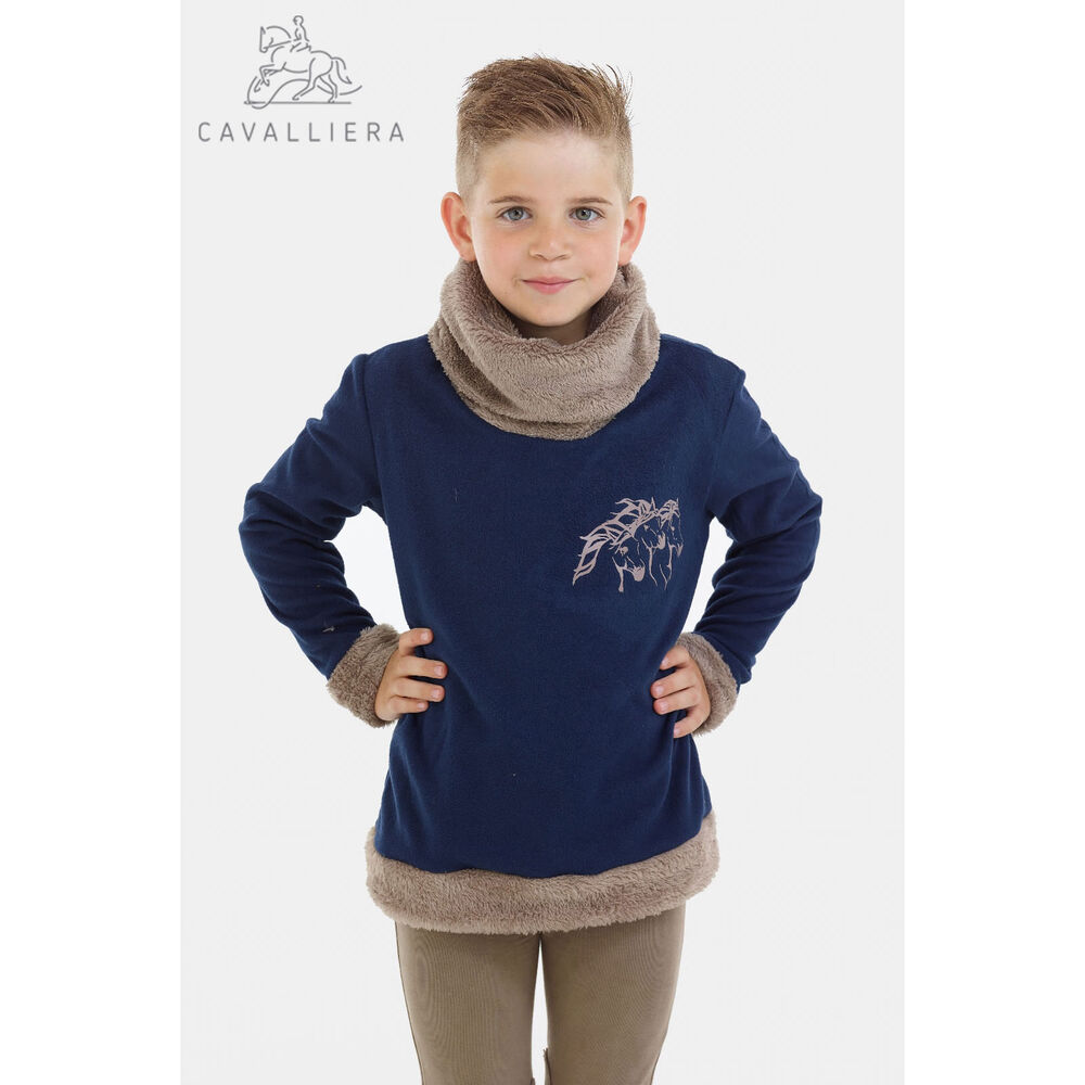 Cavalliera Cosy Riding Sweater for Kids, IVY