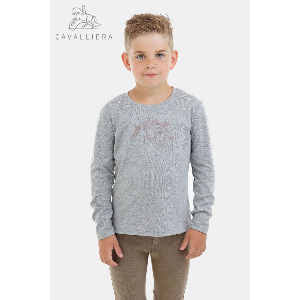 Cavalliera Riding Top for Kids Long Sleeve, IVY