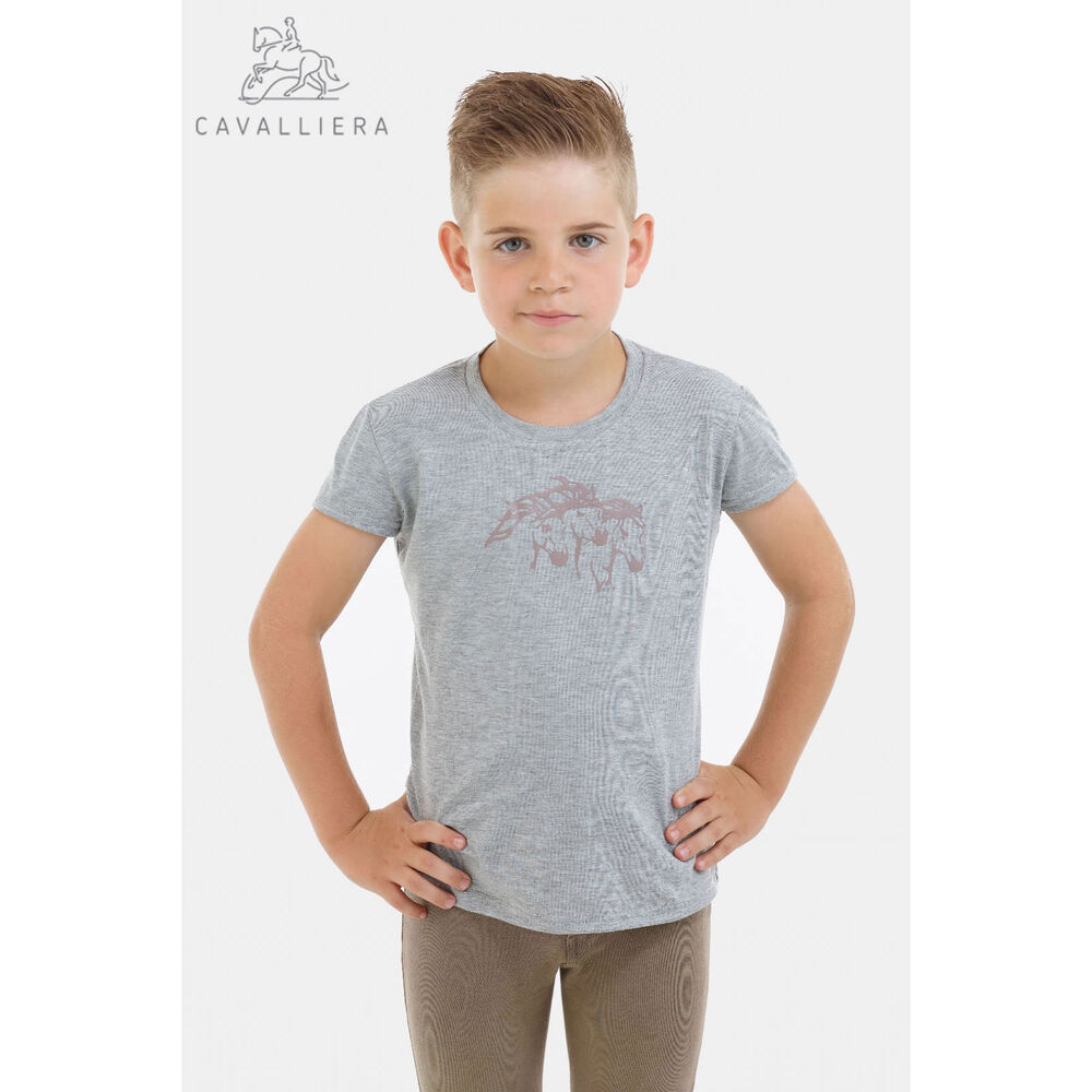 Cavalliera Riding Top for Kids Short Sleeve, IVY