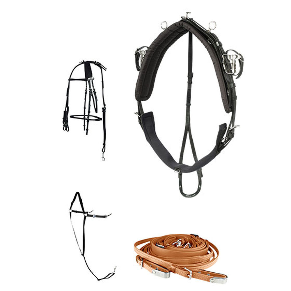 Finntack Pro QH Synthetic Racing Harness, Complete
