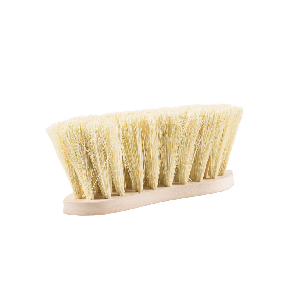 Horze Wood Back Firm Brush w/natural bristles, 8cm