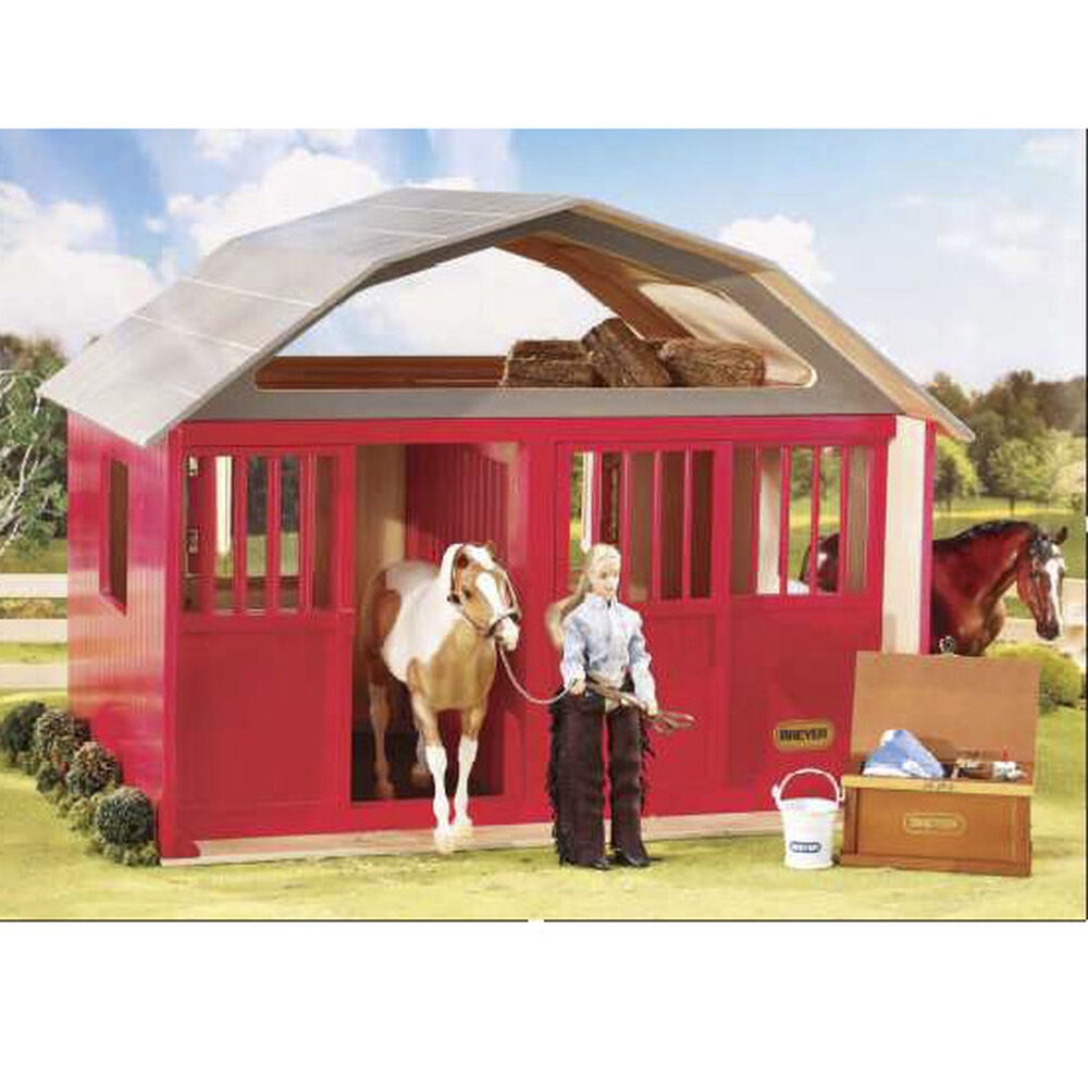 Breyer Traditional (schaal 1:9) - Deluxe Two-Stall Barn (Red)