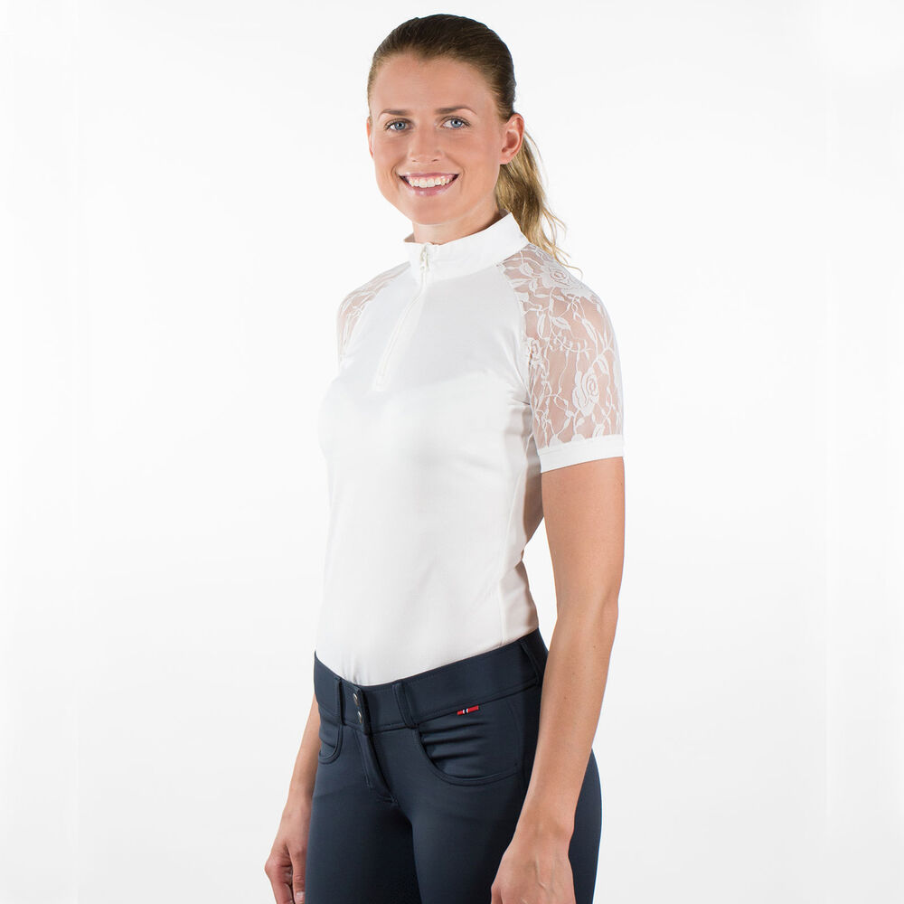 B Vertigo Amy Womens Lace Show Shirt