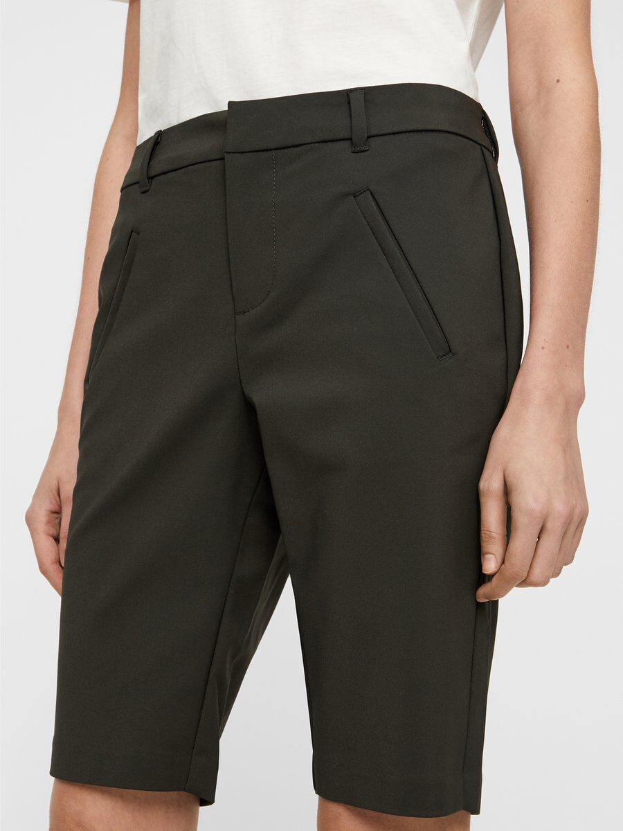 VERO MODA Regular Waist Shorts Damen Grau