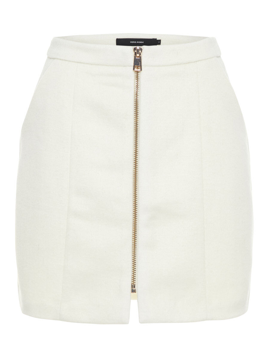 VERO MODA High Waist Woll Rock Damen White