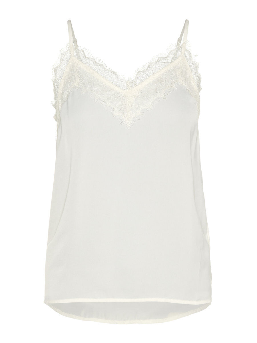 VERO MODA Spitzen Top Damen White