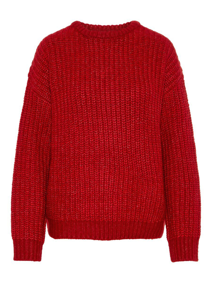 VERO MODA Loose Fit Strickpullover Damen Rot