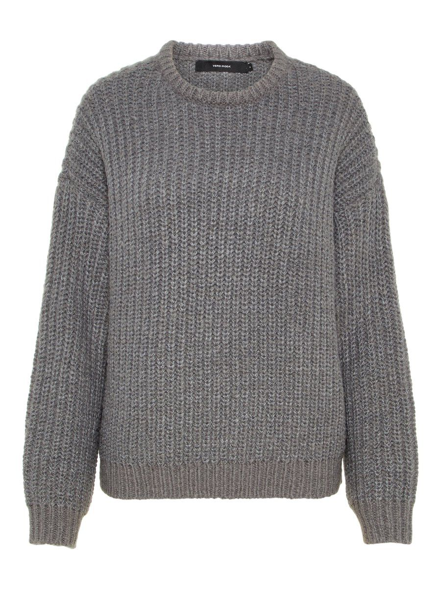 VERO MODA Loose Fit Strickpullover Damen Grau
