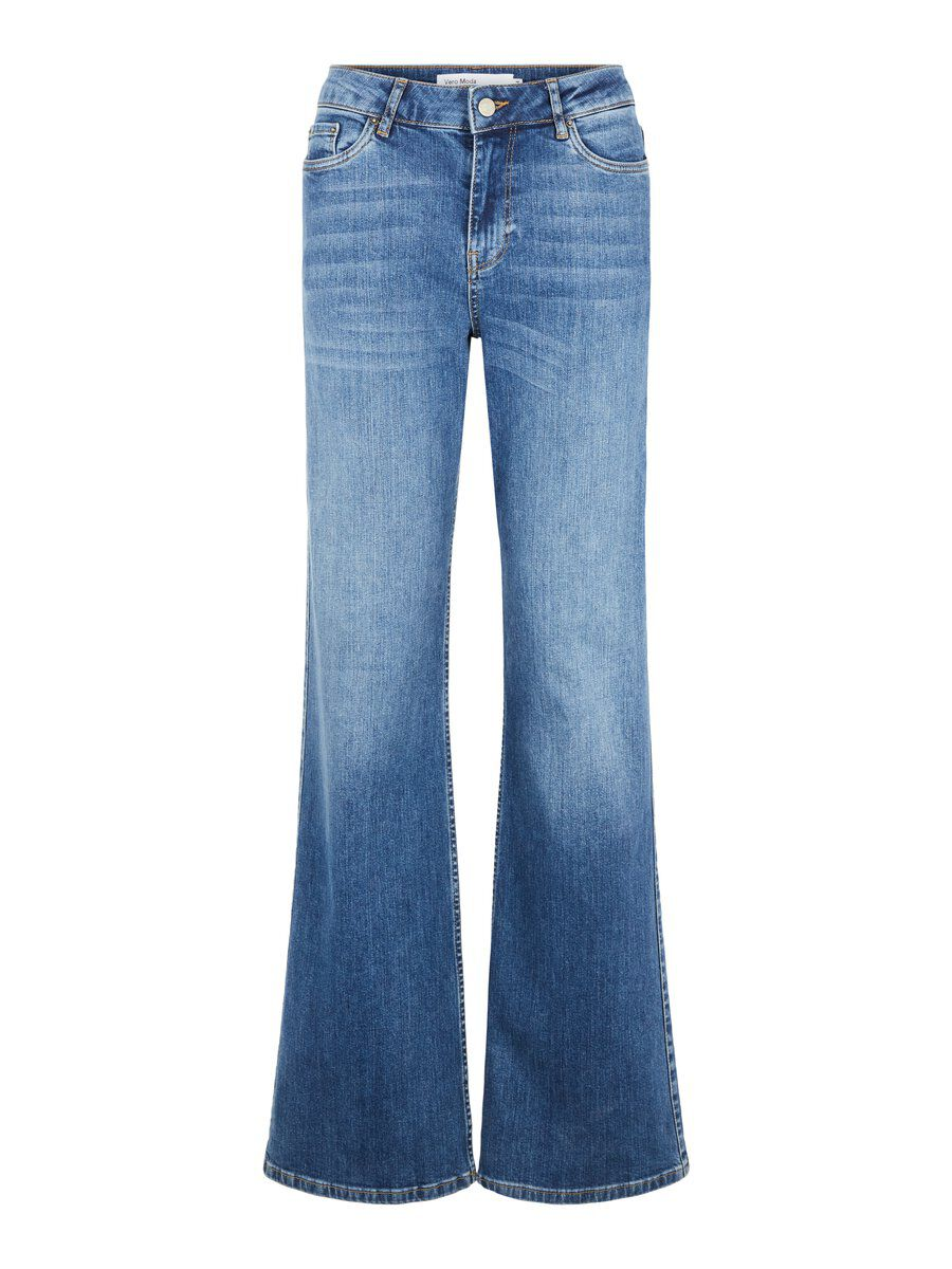 VERO MODA Vmliv High Waist Flared Loose Fit -farkut Women Blue