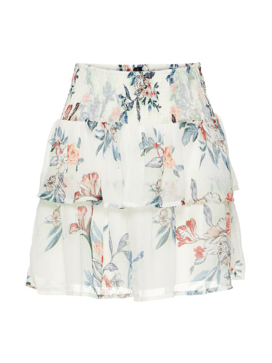 VERO MODA Floraler High Waist Rock Damen White