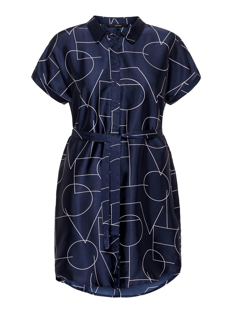 VERO MODA Grafikprint Kleid Damen Blau
