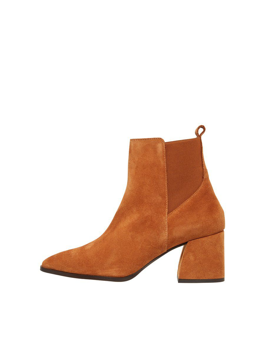 Ideal: Vero Moda Leder Stiefel Damen Braun Hit
