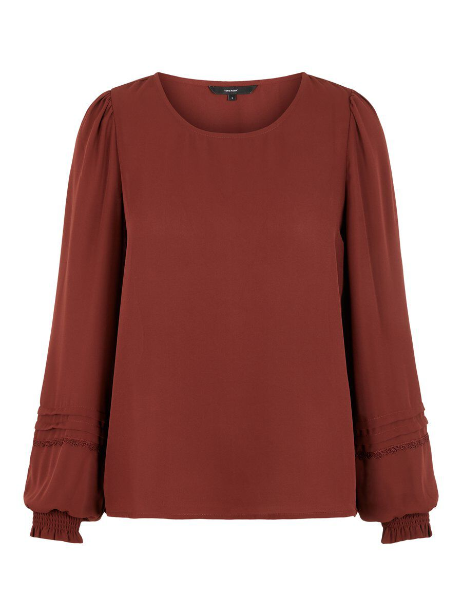 VERO MODA O-neck Top Damen Braun