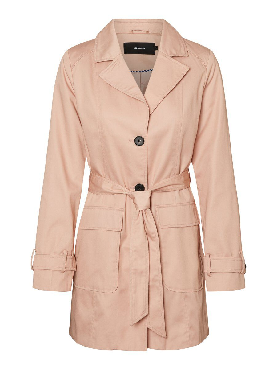 3/4 Trenchcoat Dames Roze