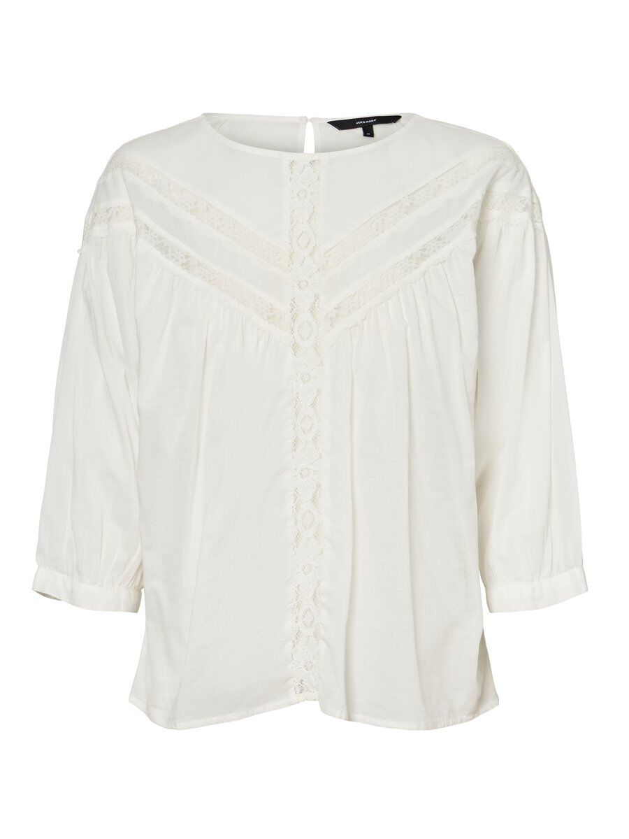 VERO MODA Lace Top Damen White