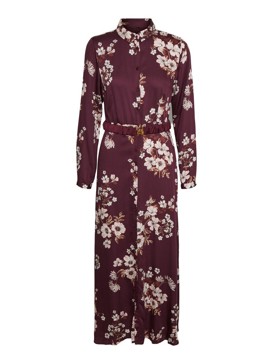 Nett: Vero Moda Belt Maxi Dress Damen Violett