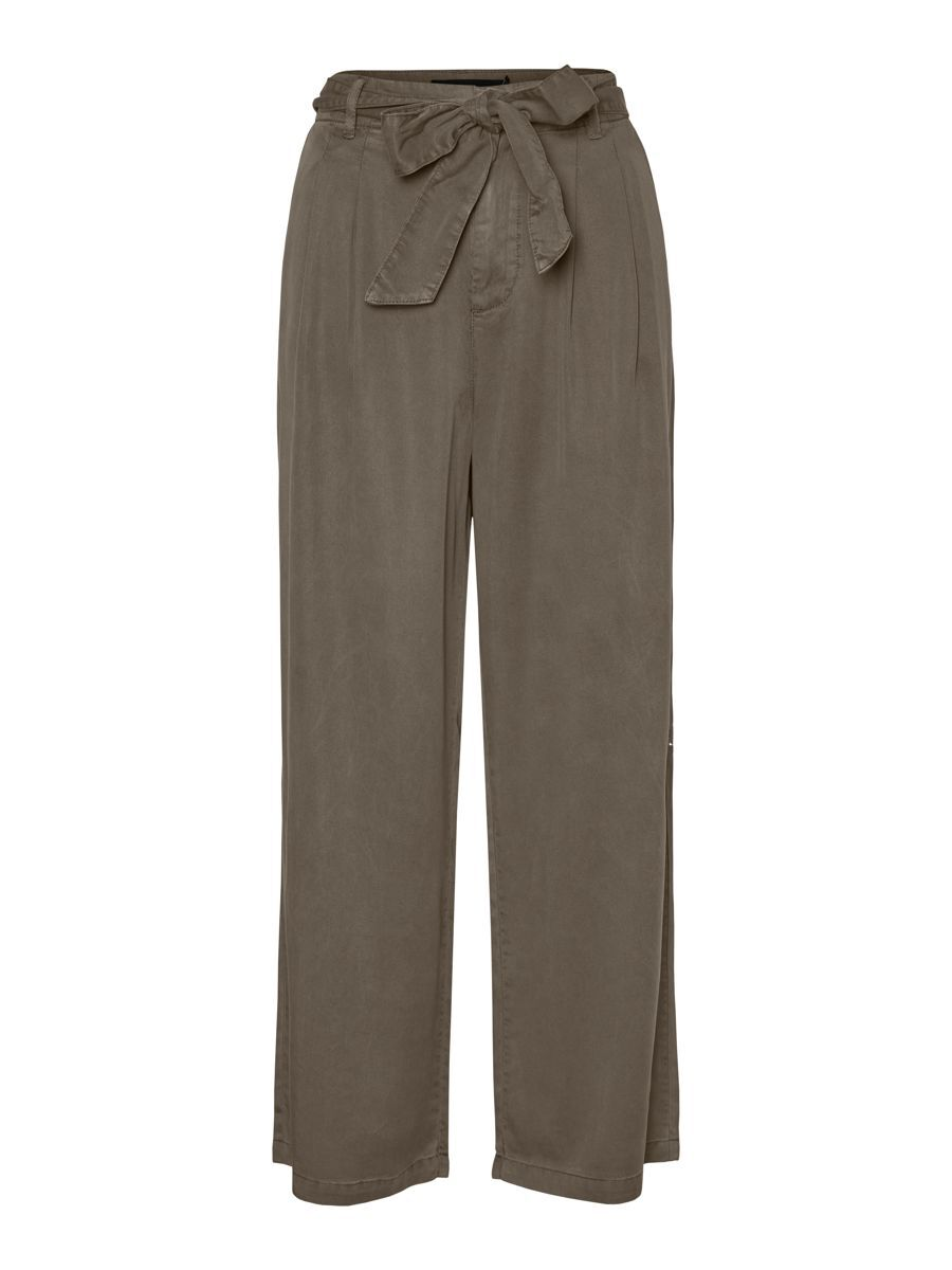 VERO MODA High Waist Wrap Belt Trousers Dames Grijs