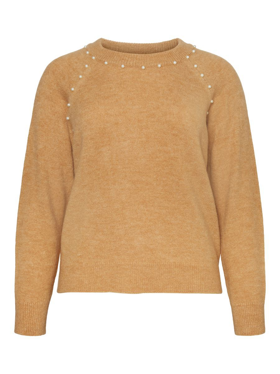O neck Knitted Pullover Bruin