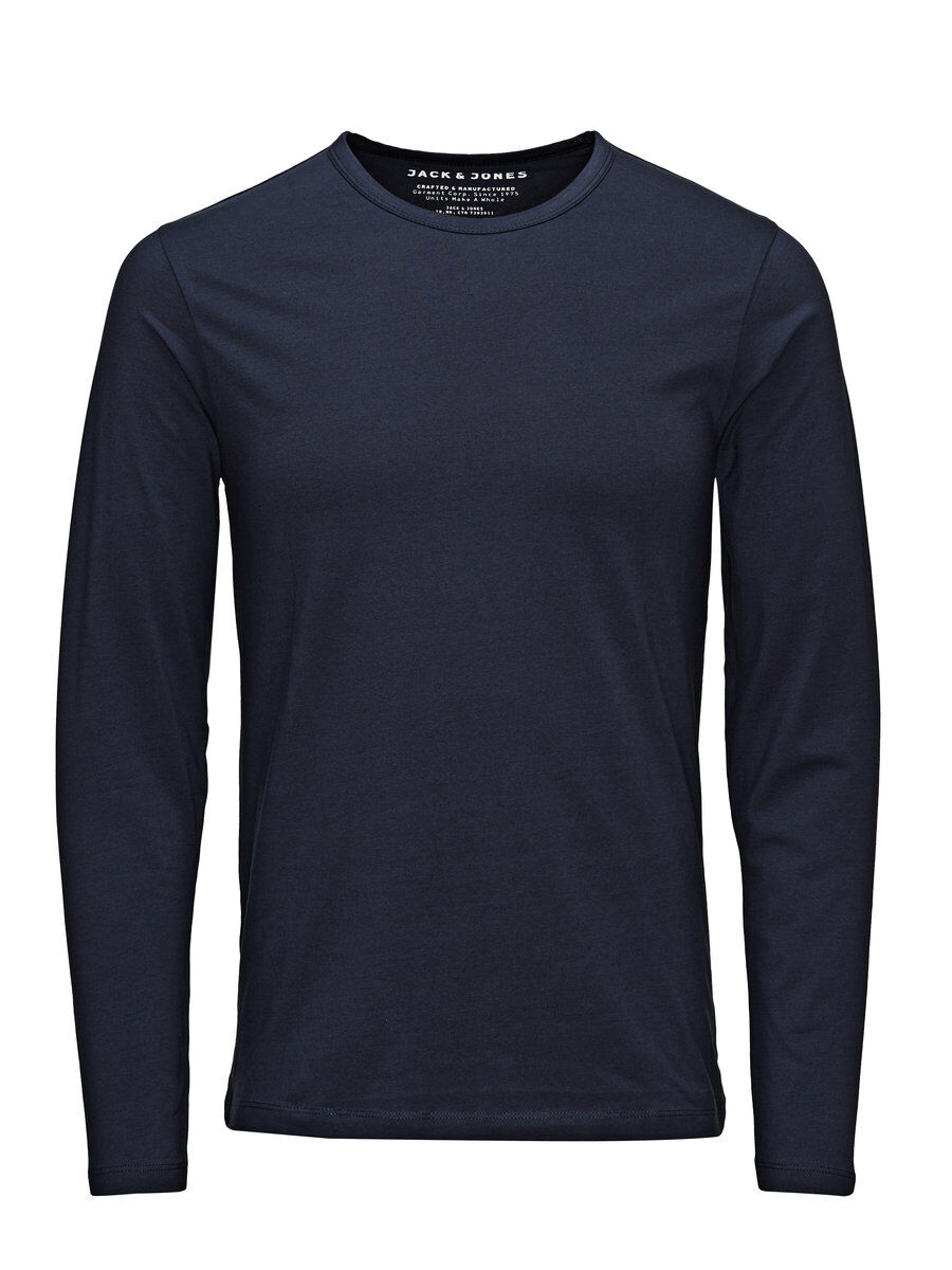Image of JACK & JONES Basic Langærmet T-shirt Mænd Blå (24419674283)
