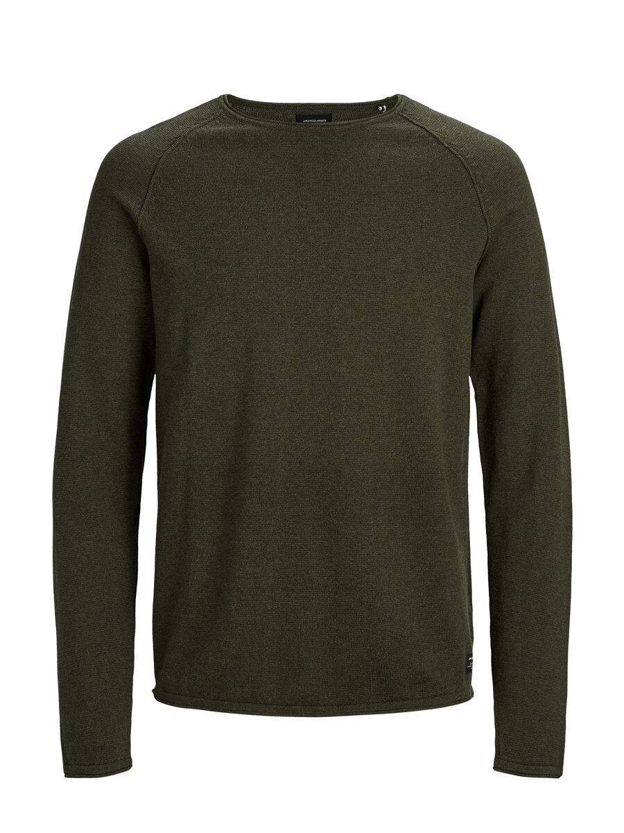 JACK & JONES Melange Knitted Pullover Men Green