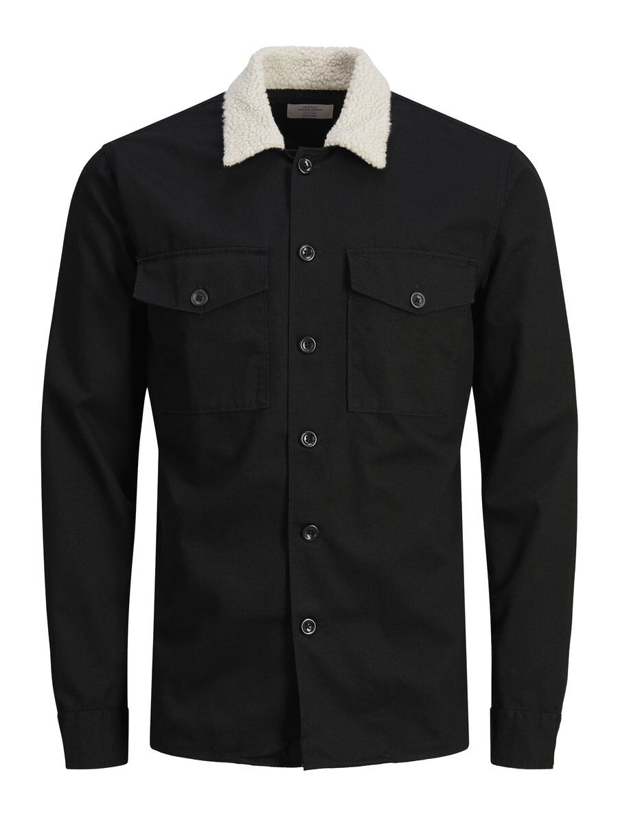 JACK & JONES Lammasturkiskauluksellinen Paita Men Black