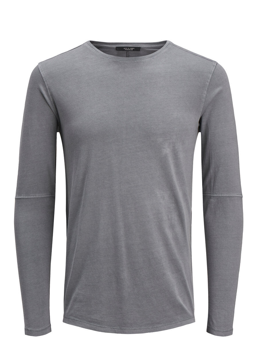 Image of JACK & JONES Slim Fit Langærmet Langærmet T-shirt Mænd Grå (22663120801)