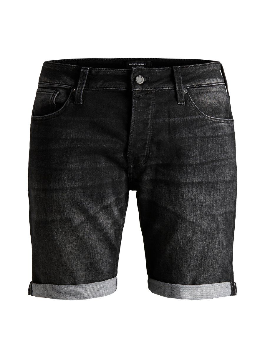 JACK & JONES Mustat Regular Fit Farkkushortsit Men Black