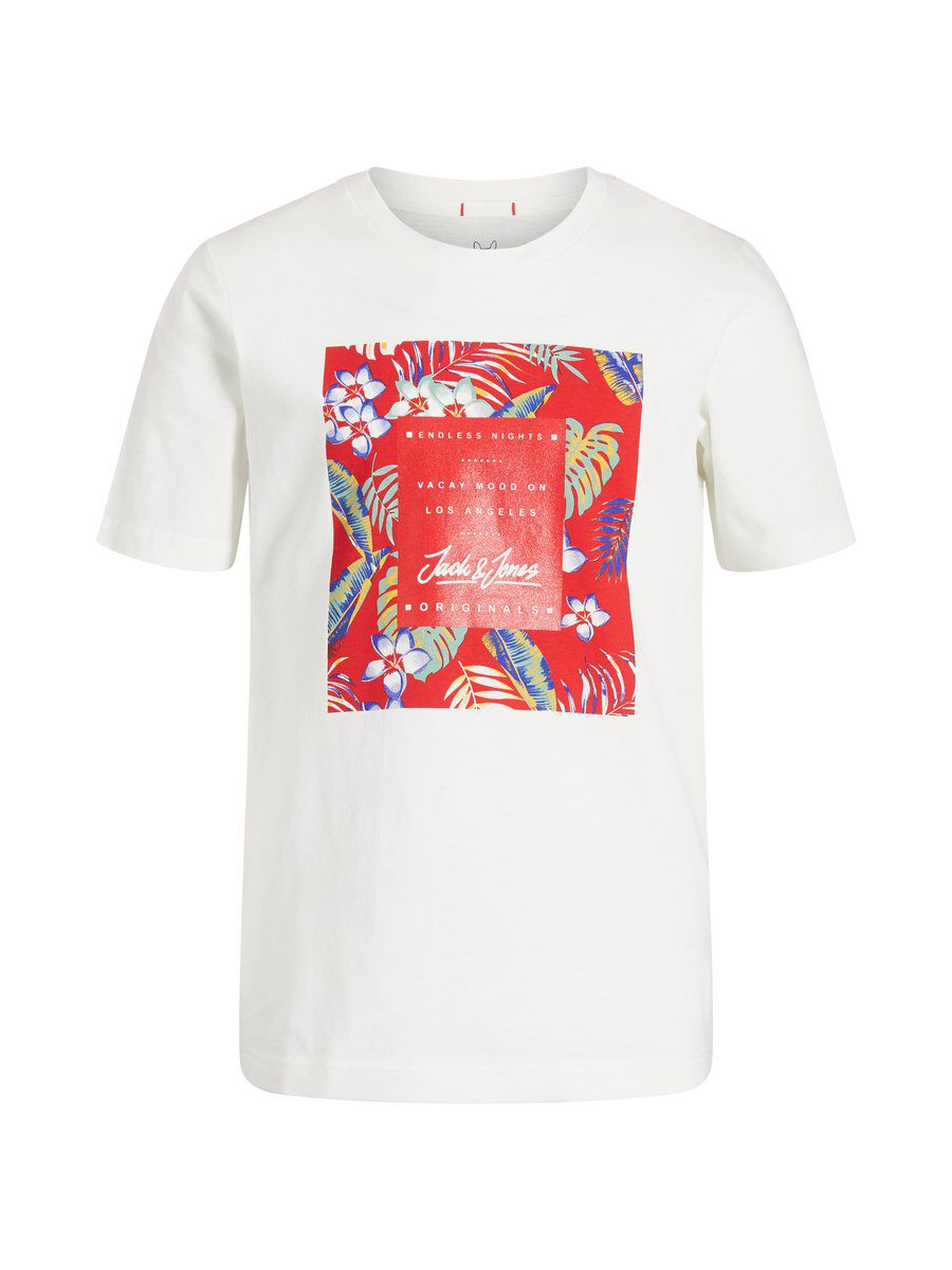 JACK & JONES Tropical Print Boys T-shirt Men White