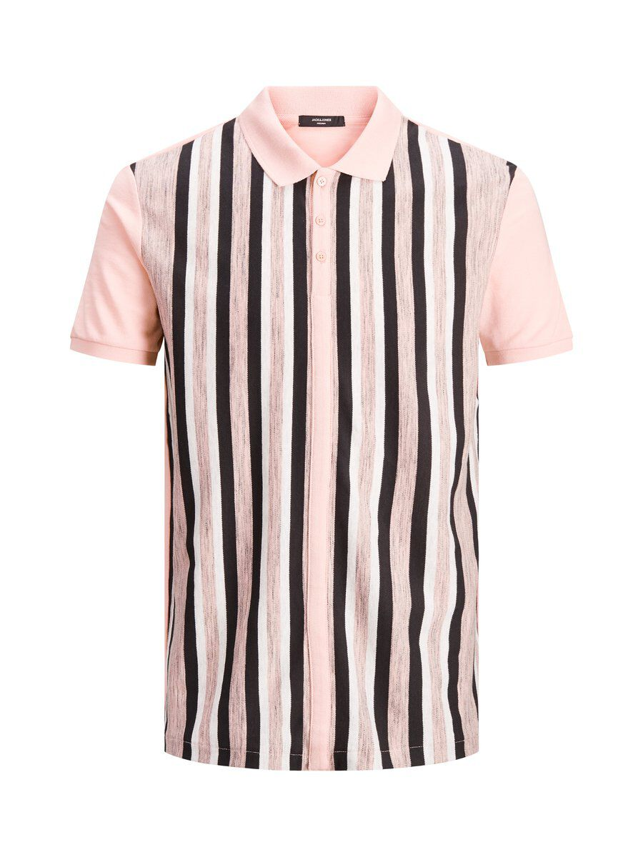 JACK & JONES Raidallinen Pikeepaita Men Pink