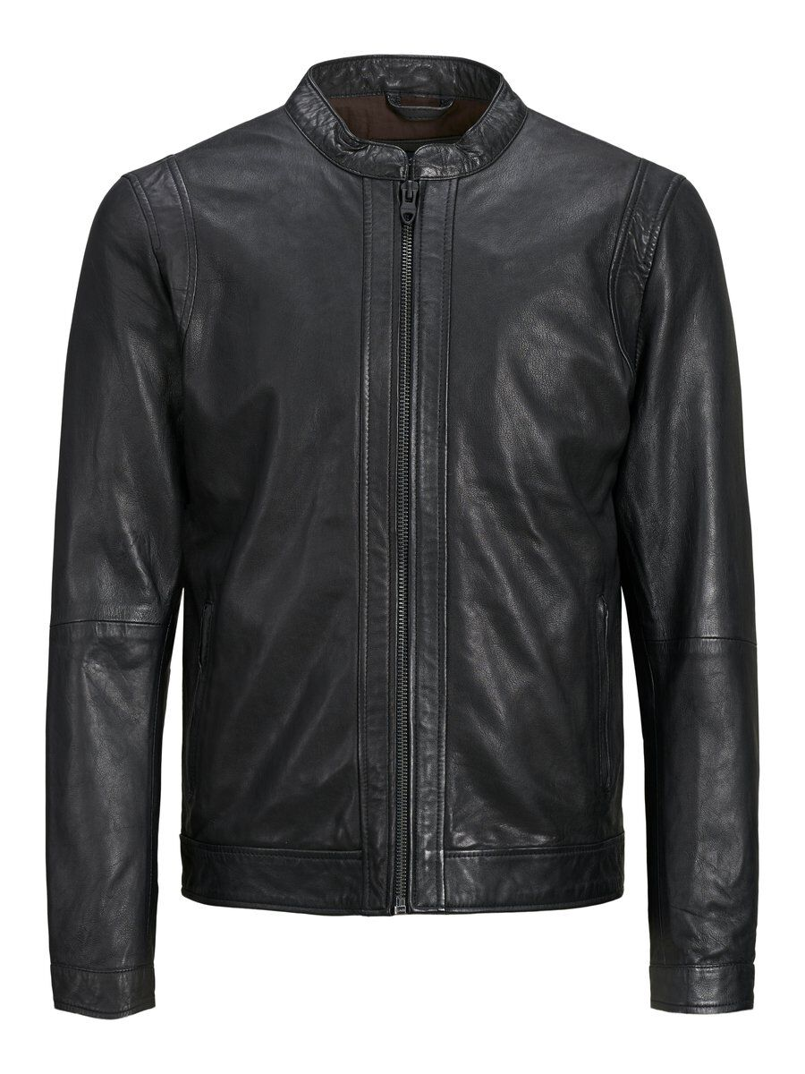 Clean Style Leather Jacket