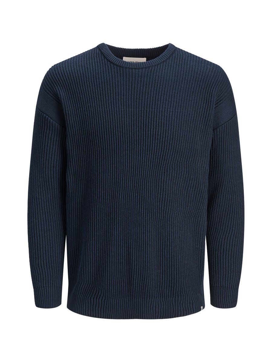 JACK & JONES Textured Knitted Pullover Men Blue