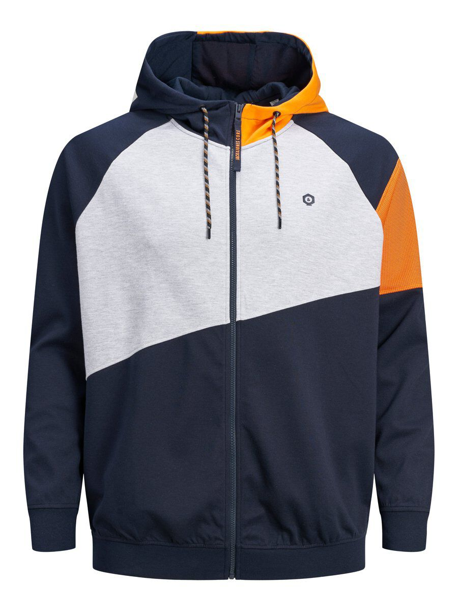 JACK & JONES Väriblokillinen Plus-koon Huppari Men Blue
