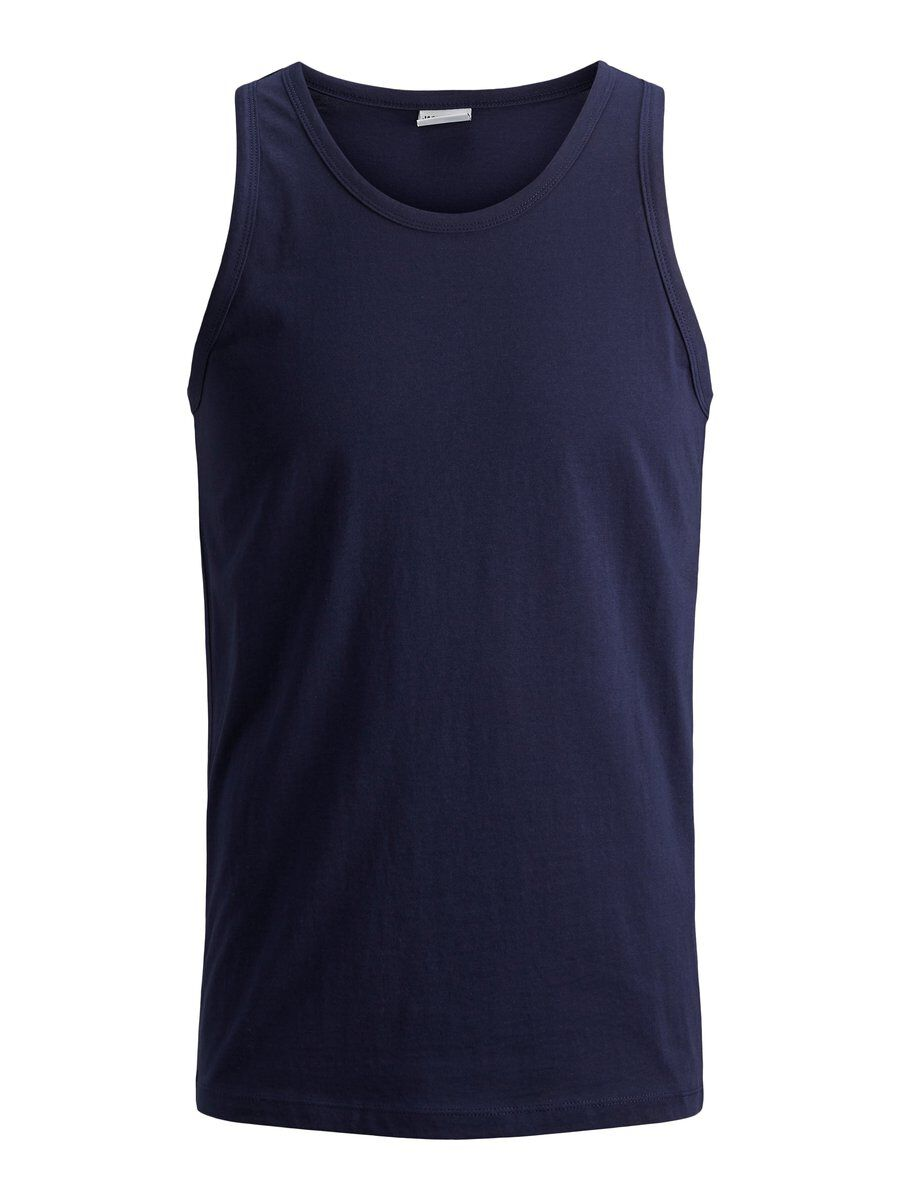 JACK & JONES Back Print Tank Top Men Blue