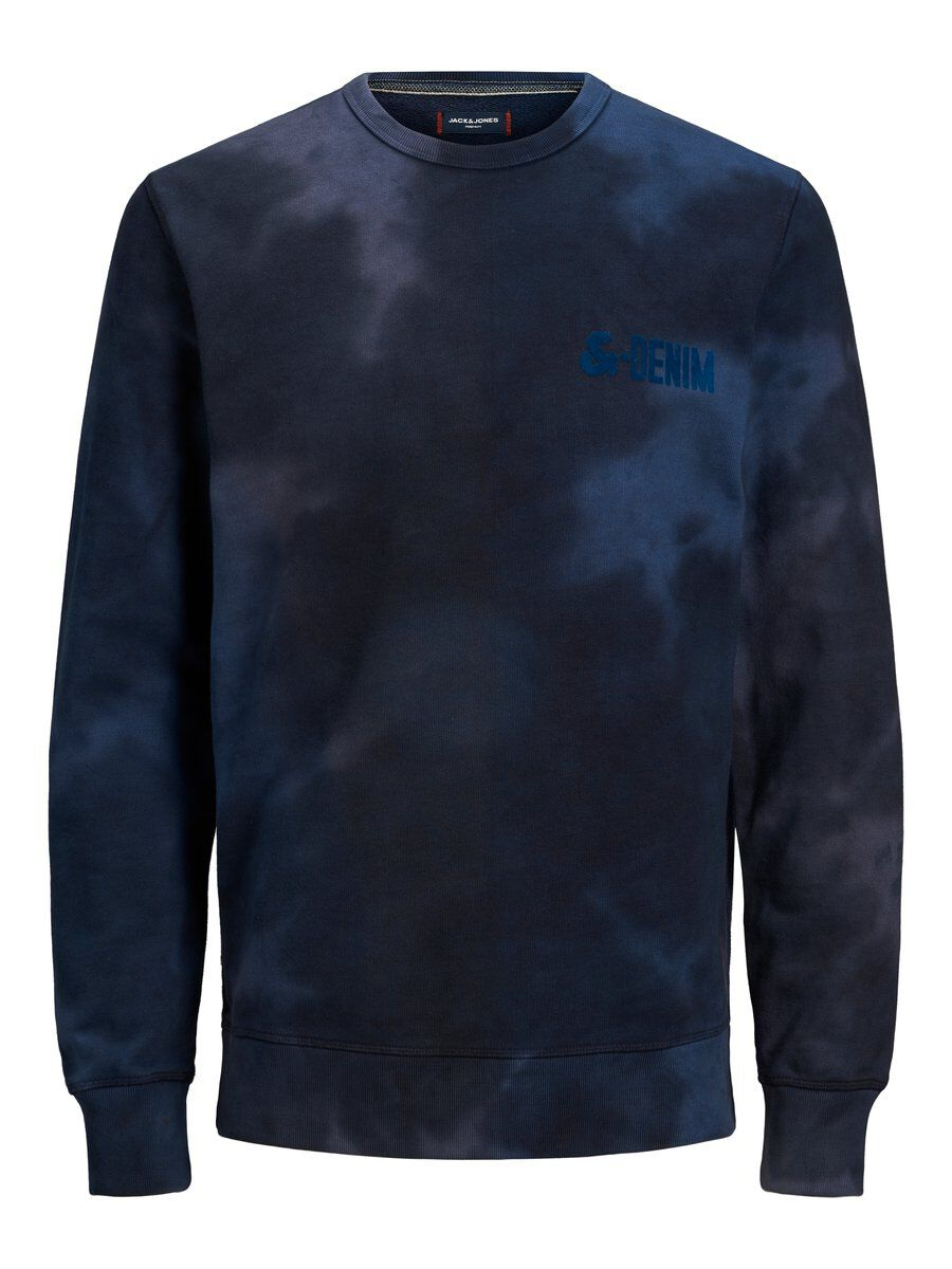 Image of JACK & JONES Tie-dye Sweatshirt Mænd Blå (25955164627)