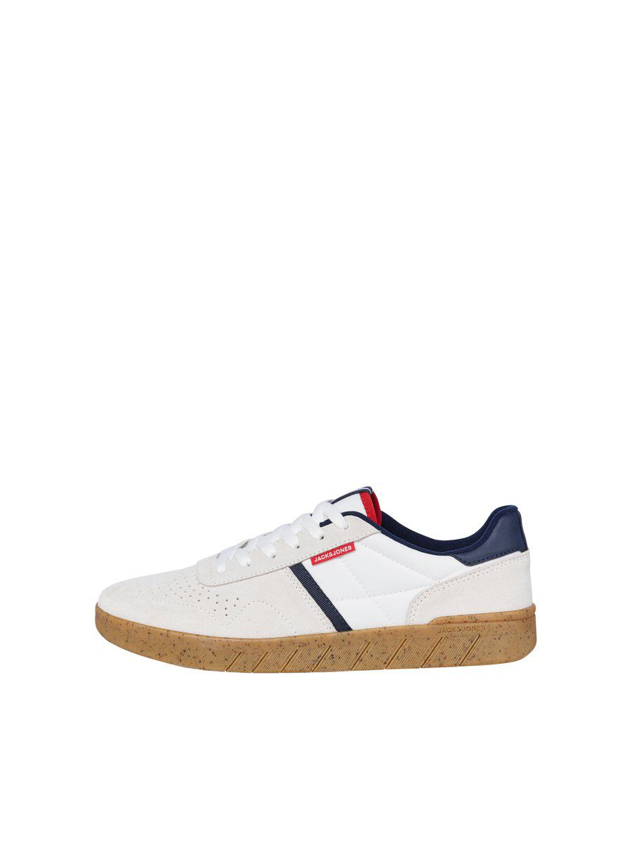 JACK & JONES Daim Lacets Baskets Men White