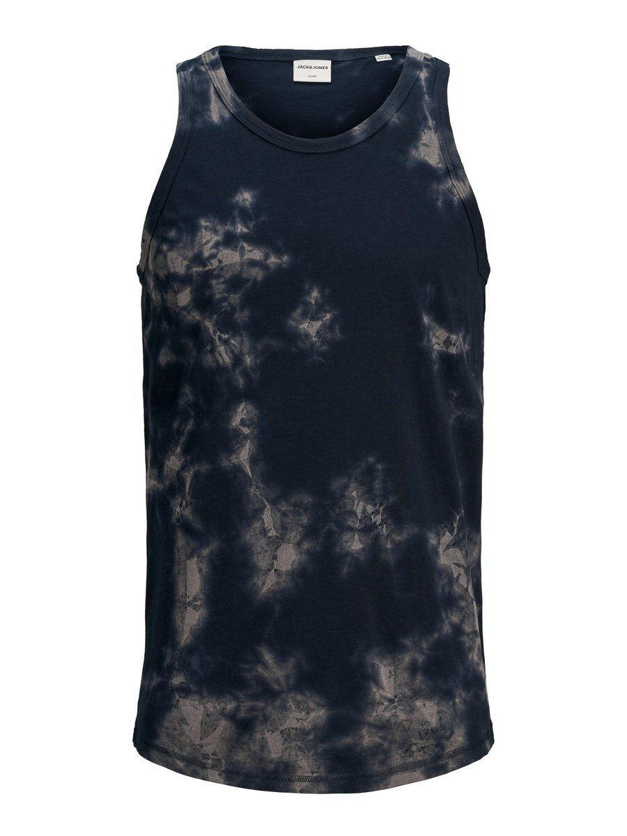 Image of JACK & JONES Tie-dye Tanktop Mænd Blå (26238808981)