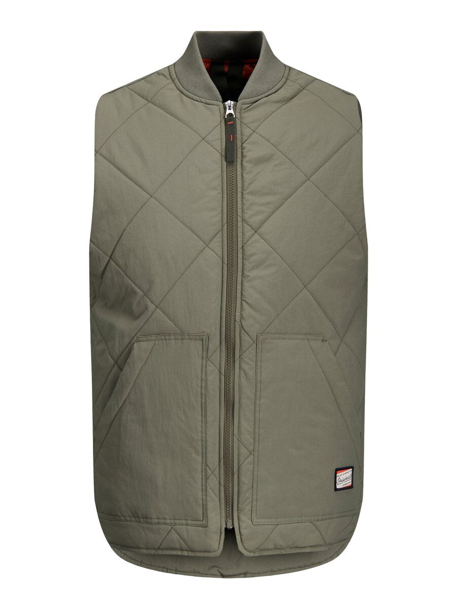 JACK & JONES Gewatteerd Workwear Gilet Heren Green