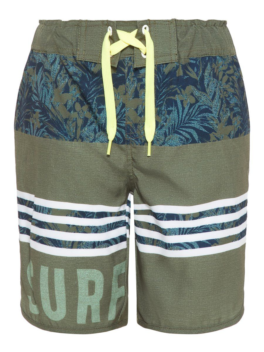 NAME IT Long Short De Bain Men green