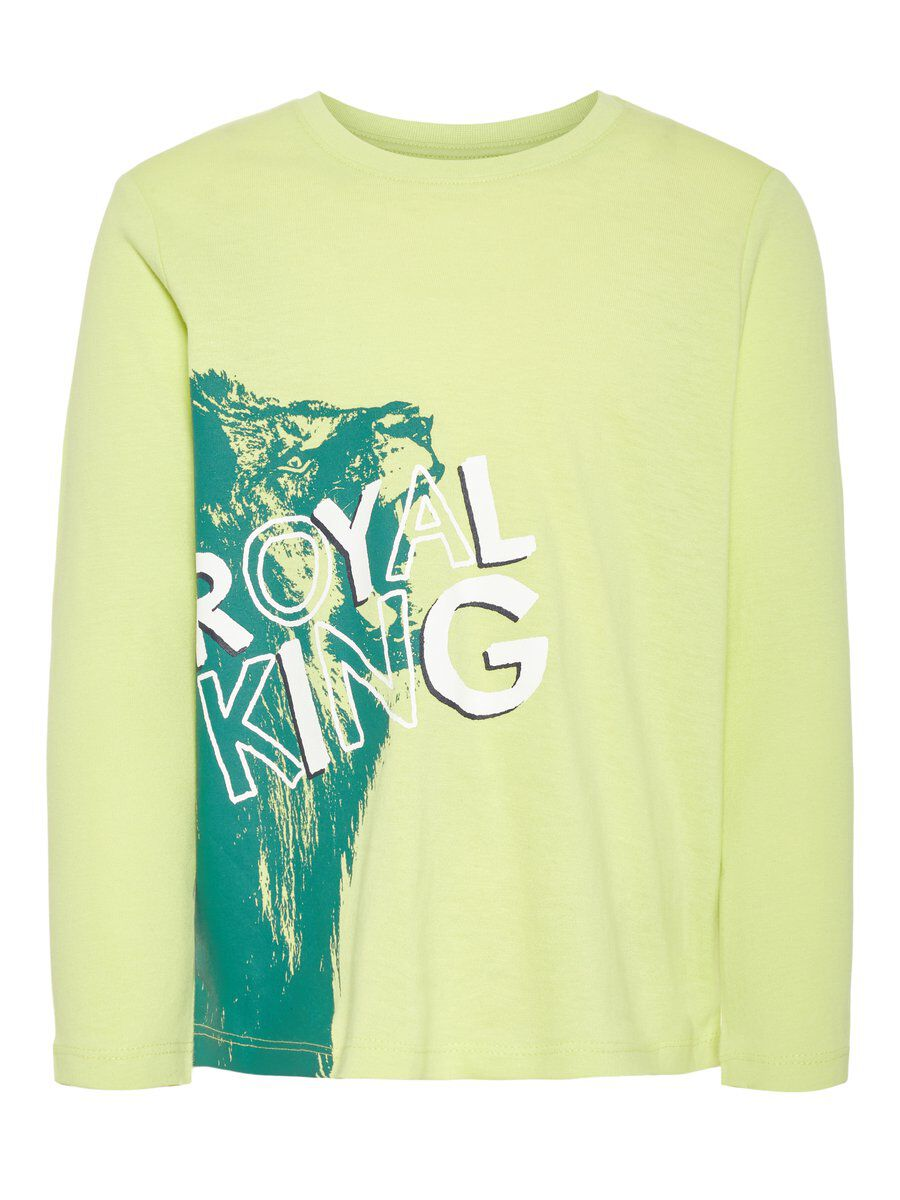NAME IT Loose Fit Long-sleeved T-shirt Men Green