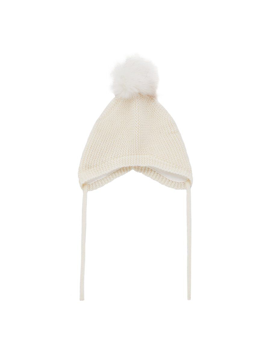 NAME IT Knitted Wool Hat Women White
