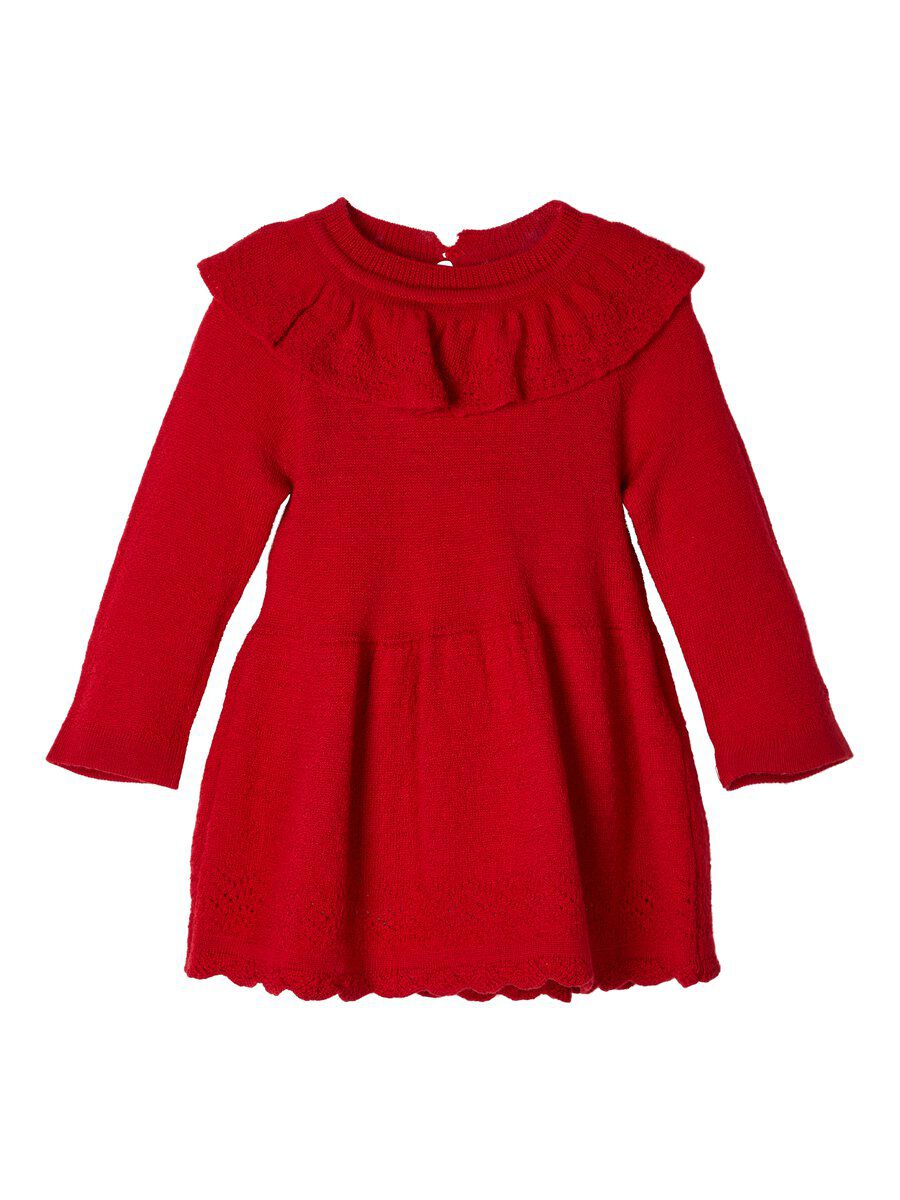NAME IT Knitted Wool Dress Women Red