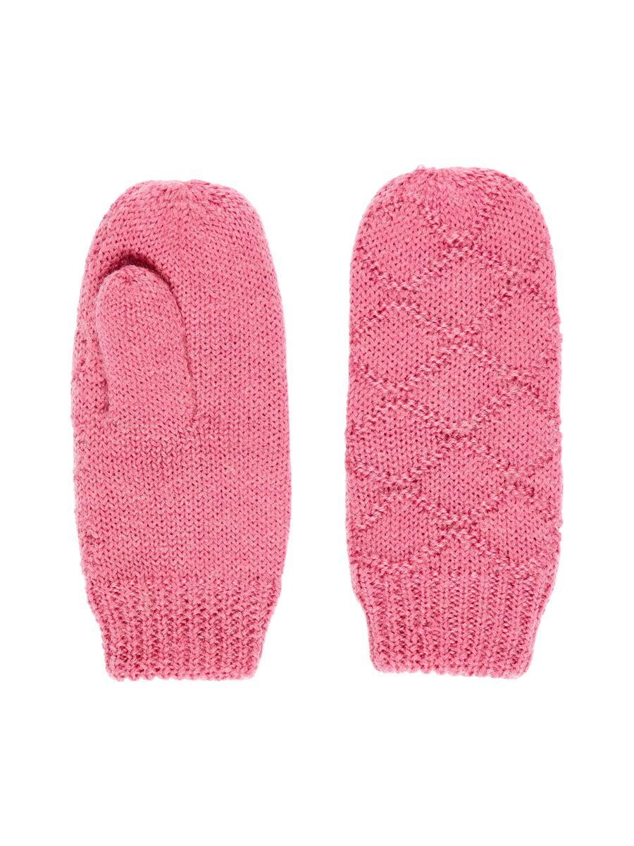 nameit NAME IT Knitted Wool Mittens Dames Roze